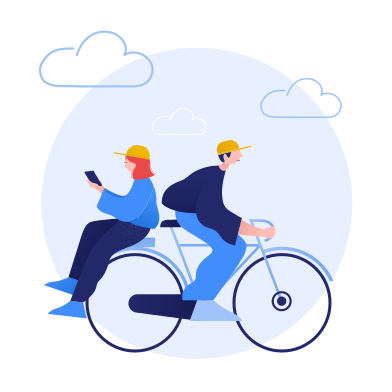 style Bicycle ride together images in PNG and SVG   Icons8 Illustrations