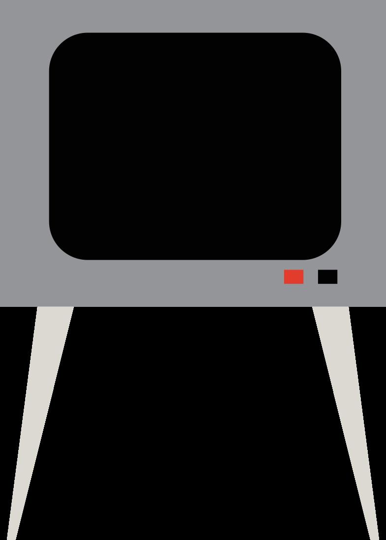 Illustration clipart La télé aux formats PNG, SVG