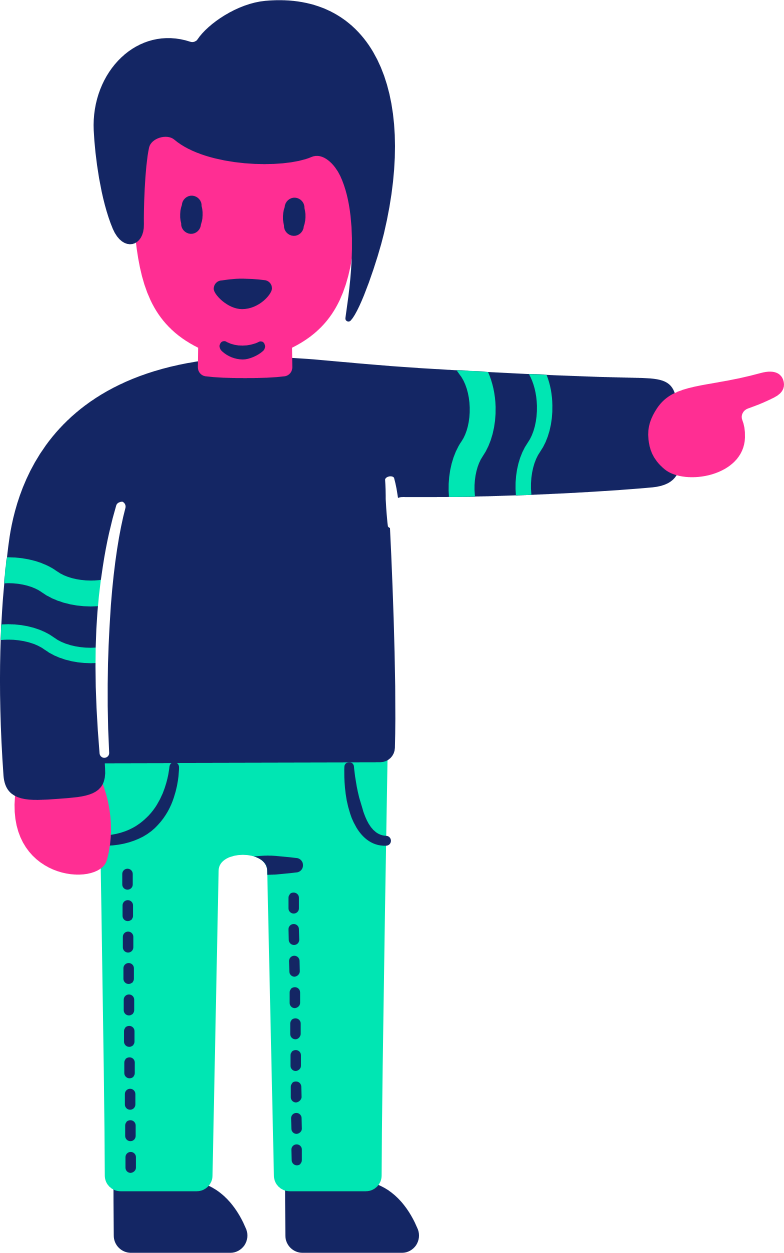 man pointing Clipart illustration in PNG, SVG