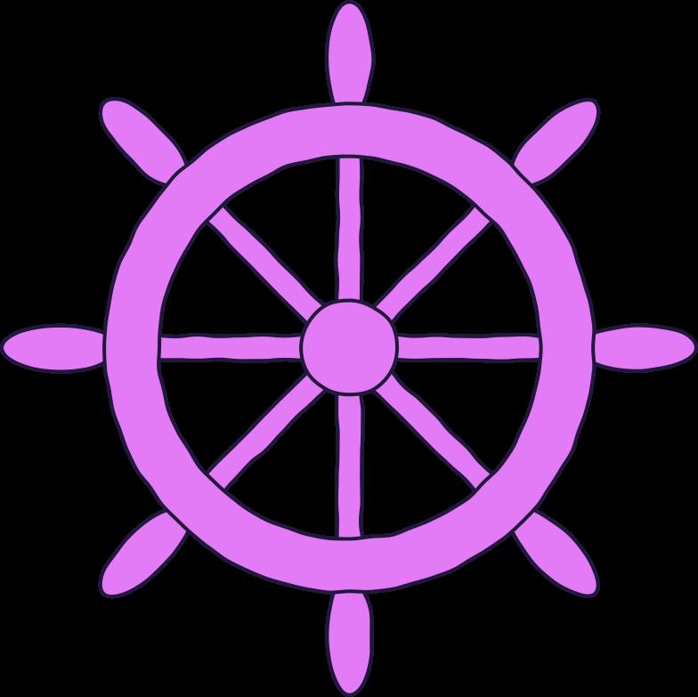 ship wheel Clipart illustration in PNG, SVG