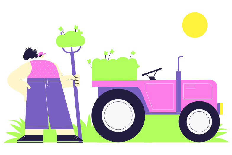 style Collecting grass Vector images in PNG and SVG | Icons8 Illustrations