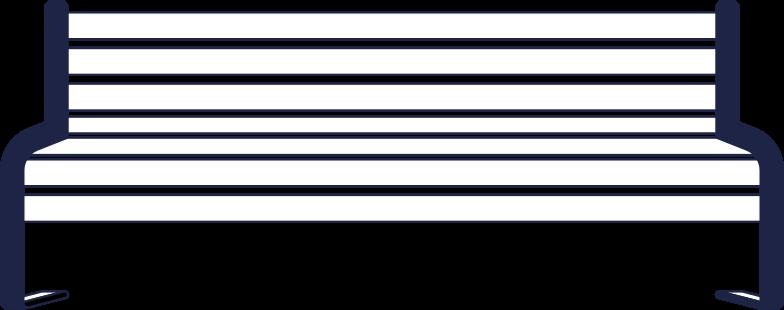 bench line Clipart illustration in PNG, SVG