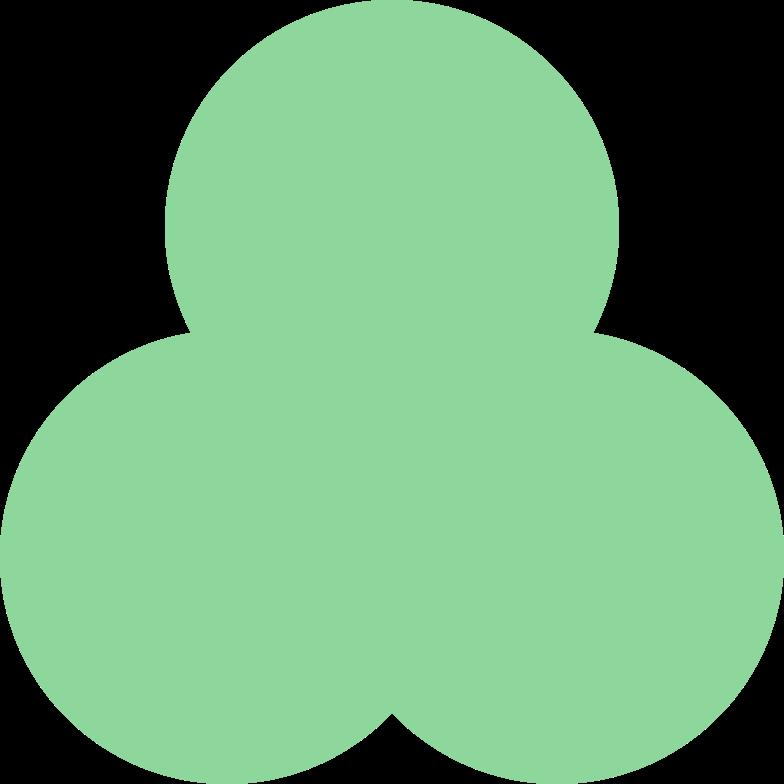 trefoil-green Clipart illustration in PNG, SVG
