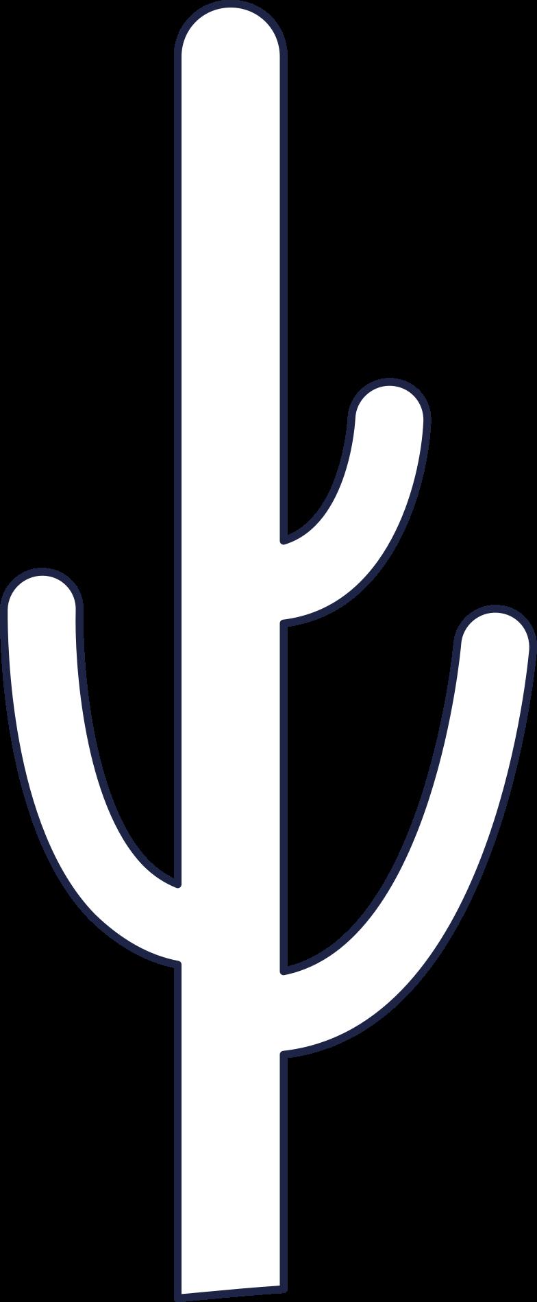 サボテン3行 のPNG、SVGクリップアートイラスト