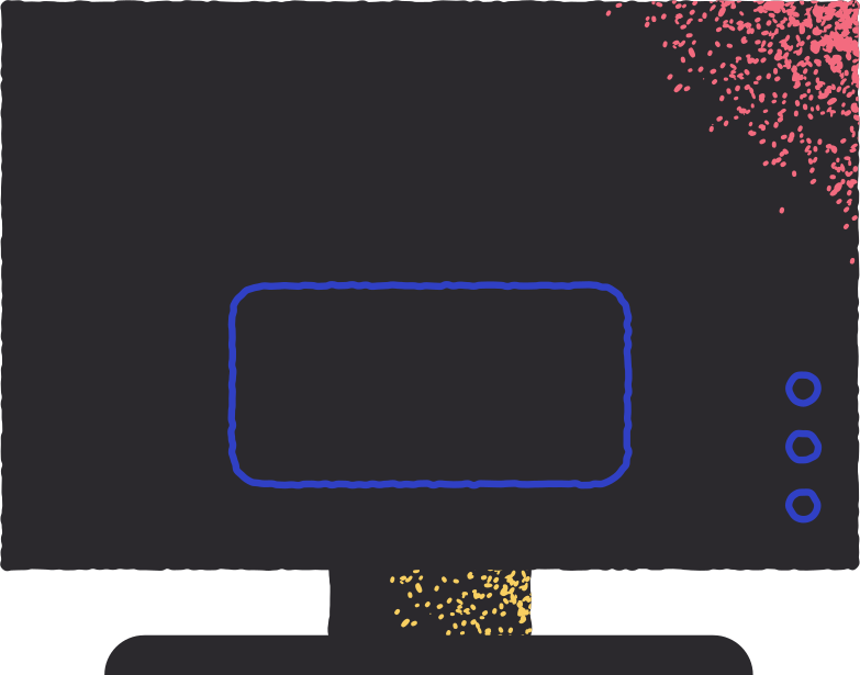 tv back view Clipart illustration in PNG, SVG