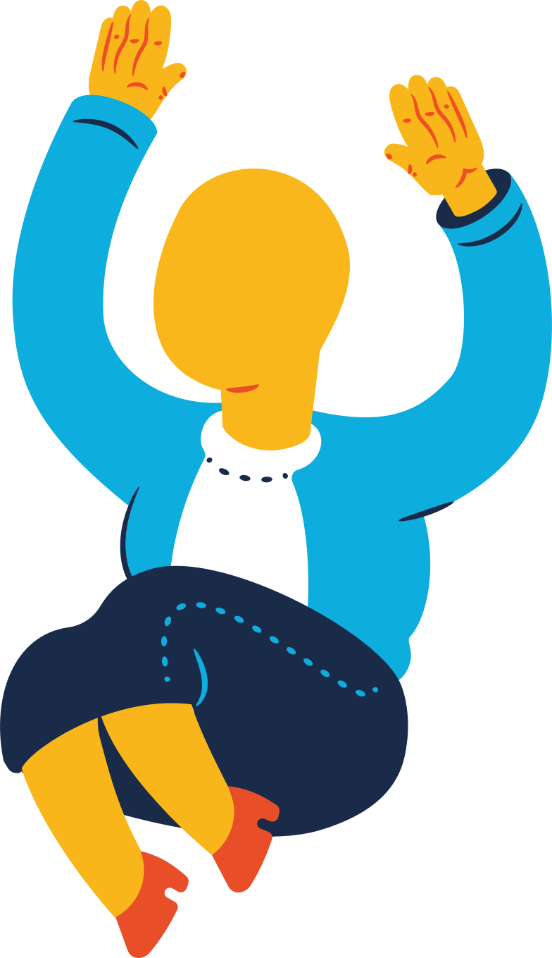chubby old woman jumping Clipart illustration in PNG, SVG