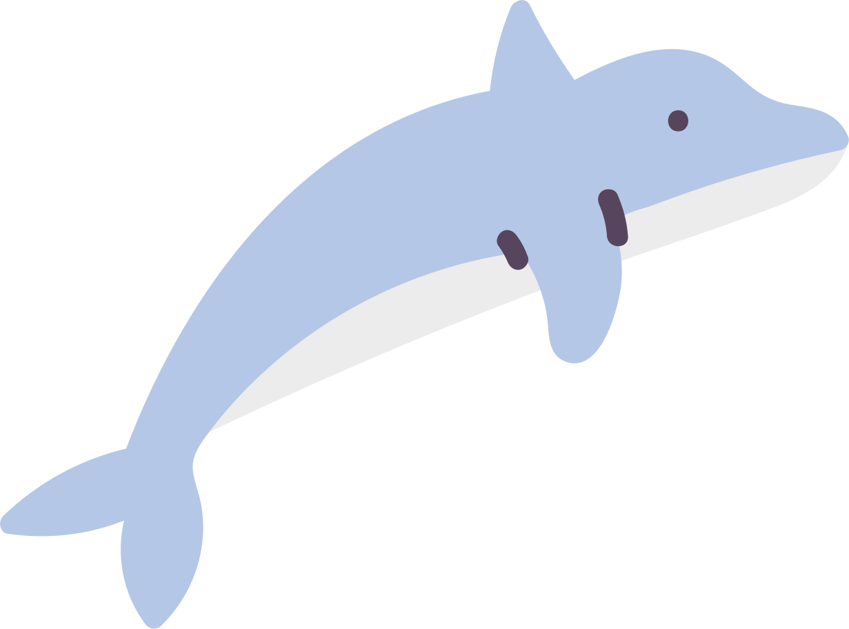Delfin Clipart-Grafik als PNG, SVG