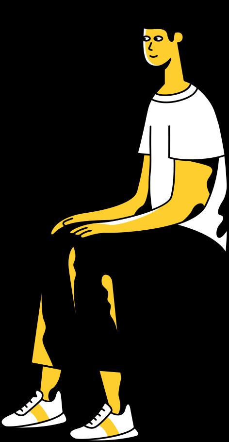 sitting man Clipart illustration in PNG, SVG