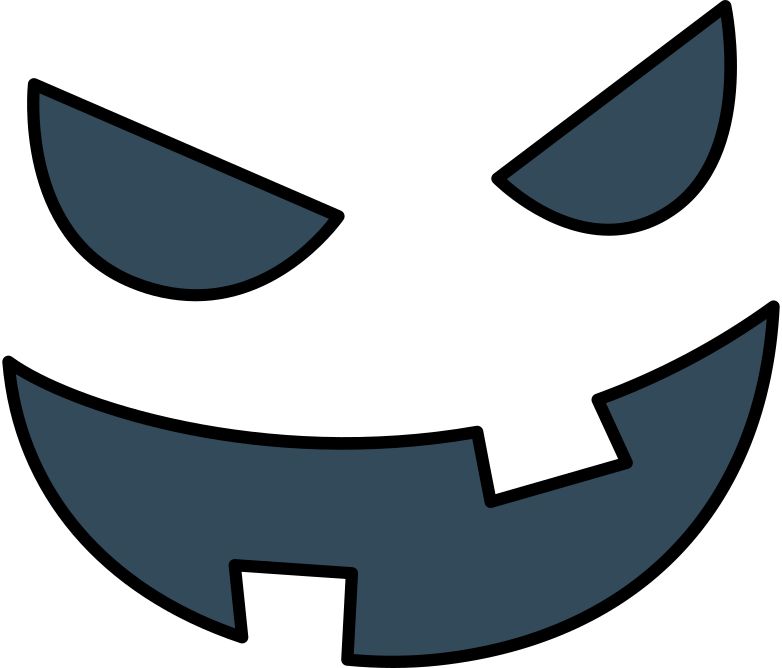 spooky face Clipart illustration in PNG, SVG
