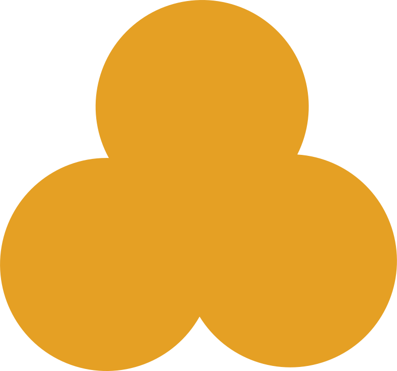 Kleeblatt orange Clipart-Grafik als PNG, SVG