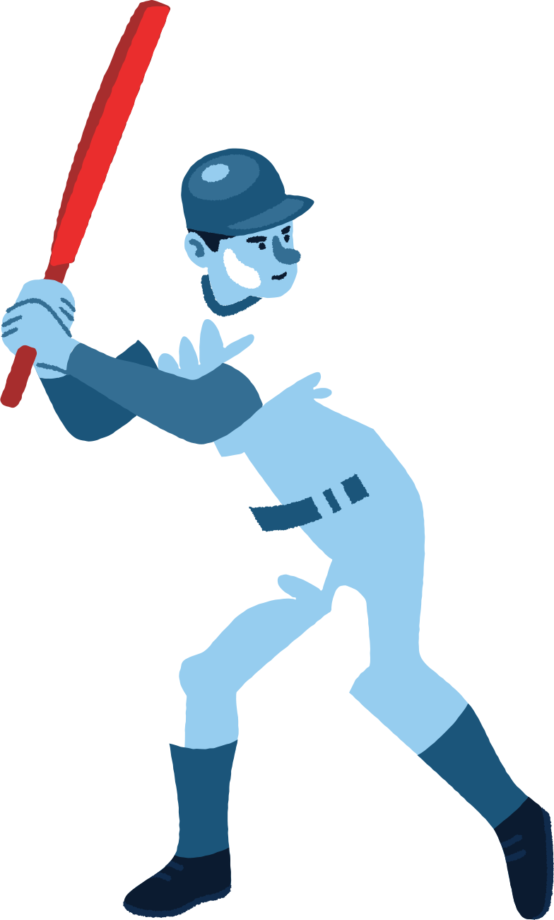 cricket man Clipart illustration in PNG, SVG