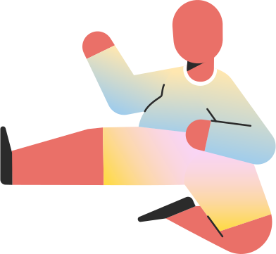 style chubby child jump kick images in PNG and SVG | Icons8 Illustrations