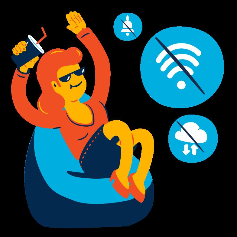 Going offline Clipart illustration in PNG, SVG
