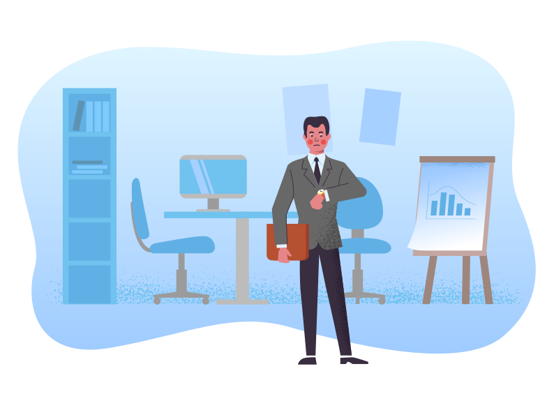 Businessman at the office Clipart illustration in PNG, SVG