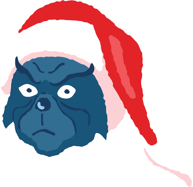 angry grinch face Clipart illustration in PNG, SVG