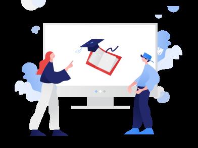 Иллюстрация Онлайн-образование в стиле  в PNG и SVG | Icons8 Иллюстрации