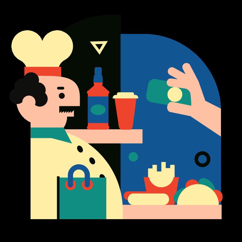Immagine Vettoriale Comprare cibo in PNG e SVG in stile  | Illustrazioni Icons8