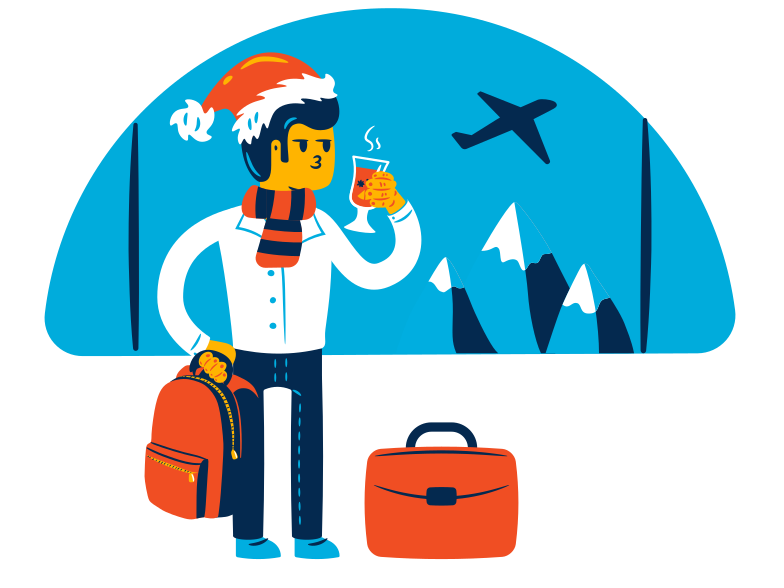 Winter holidays Clipart illustration in PNG, SVG
