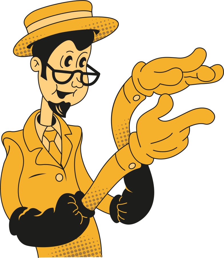man in glasses Clipart illustration in PNG, SVG