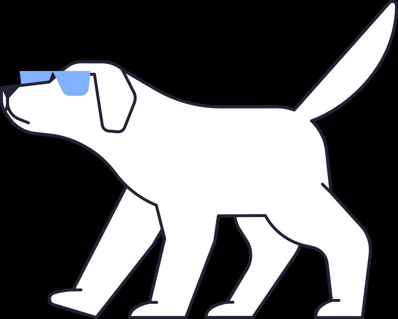 upgrade  dog Clipart illustration in PNG, SVG