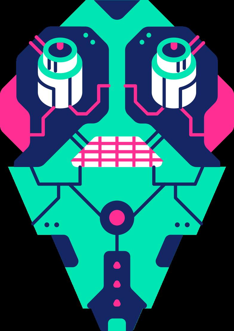 robot face Clipart illustration in PNG, SVG