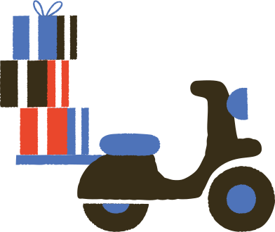 style moped with gifts images in PNG and SVG   Icons8 Illustrations