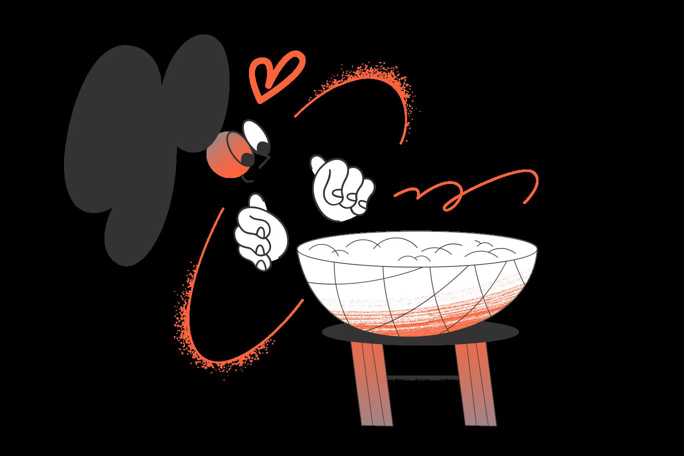 I LOVE Porridge Clipart illustration in PNG, SVG