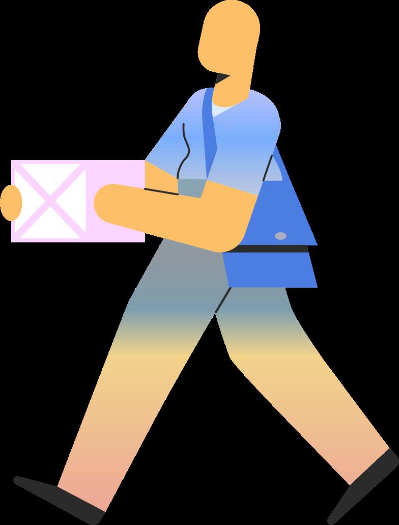 deliveryman Clipart illustration in PNG, SVG