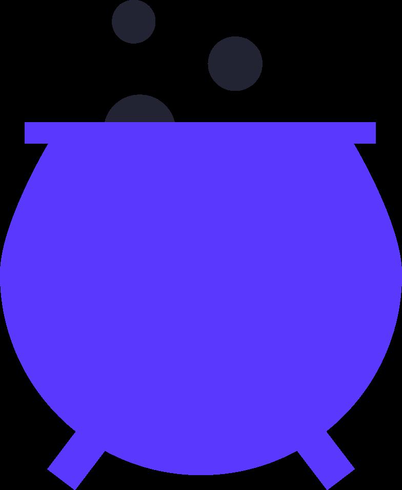 halloween preparation  pot Clipart-Grafik als PNG, SVG