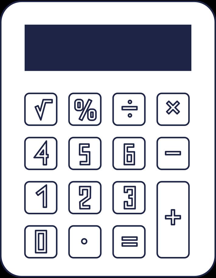 Taschenrechner Clipart-Grafik als PNG, SVG