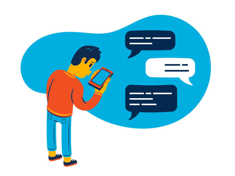 Chat messages Clipart illustration in PNG, SVG