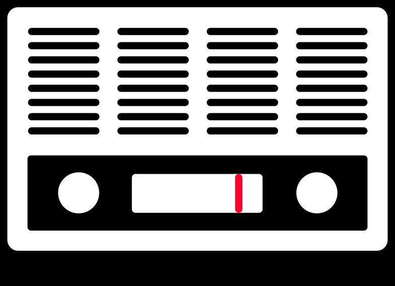 radio Clipart illustration in PNG, SVG