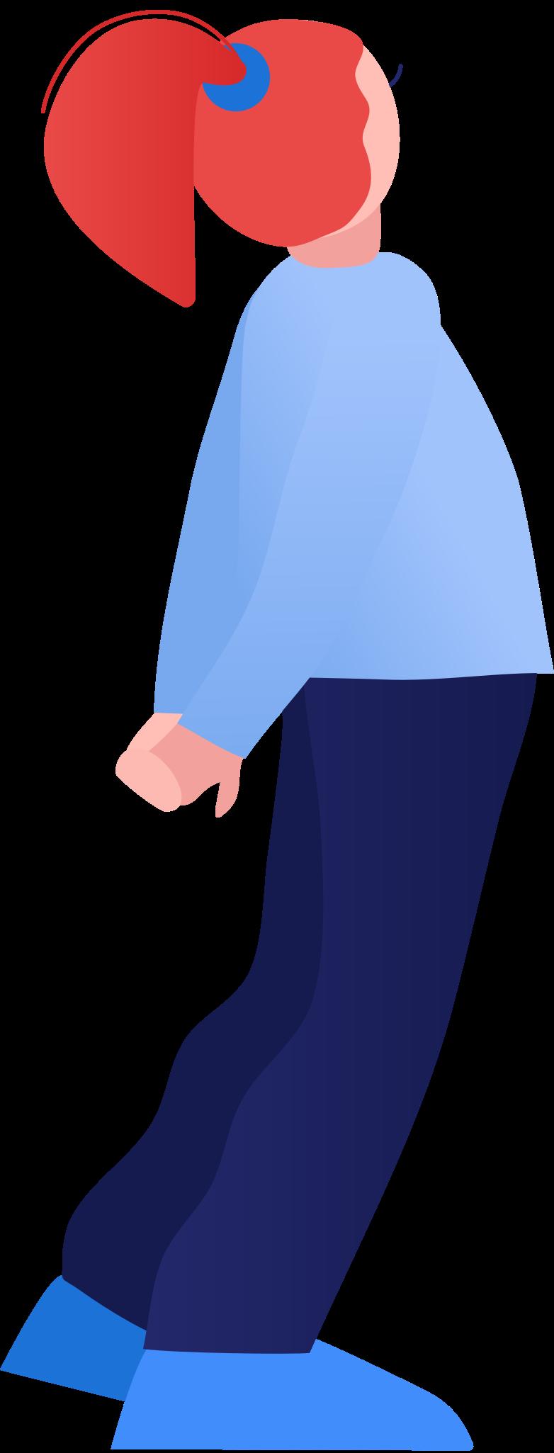 girl back Clipart illustration in PNG, SVG