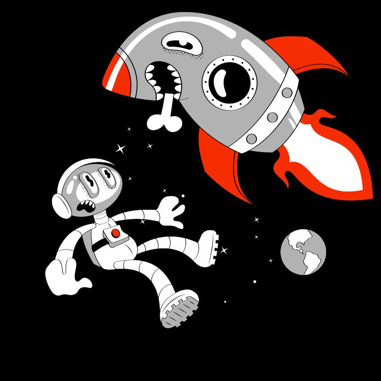 Razzo pazzo Illustrazione clipart in PNG, SVG