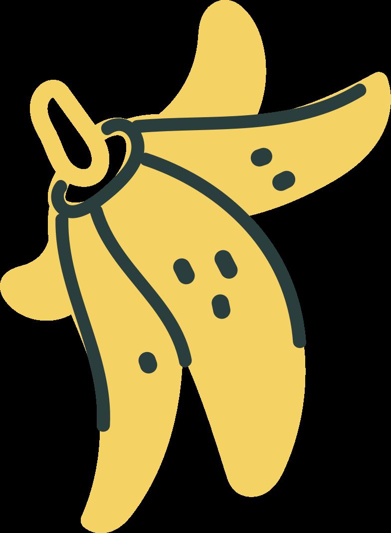 fatal error  banana skin Clipart illustration in PNG, SVG