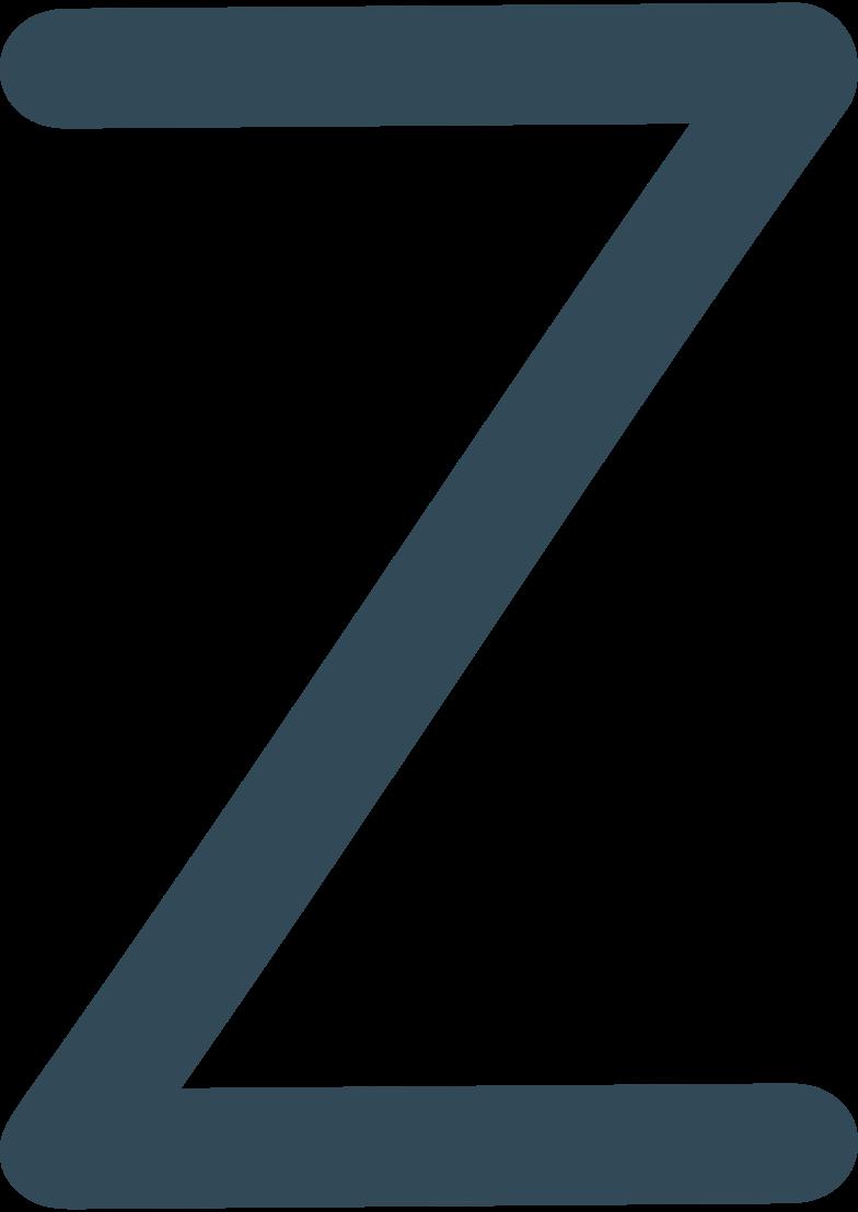 z  dark blue Clipart illustration in PNG, SVG