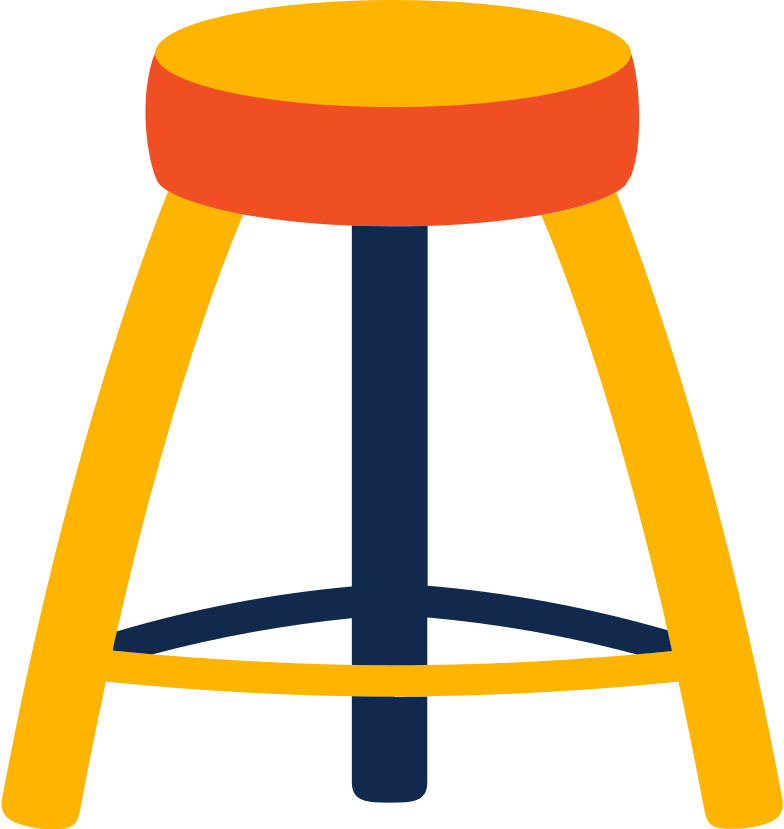 seat stool Clipart illustration in PNG, SVG