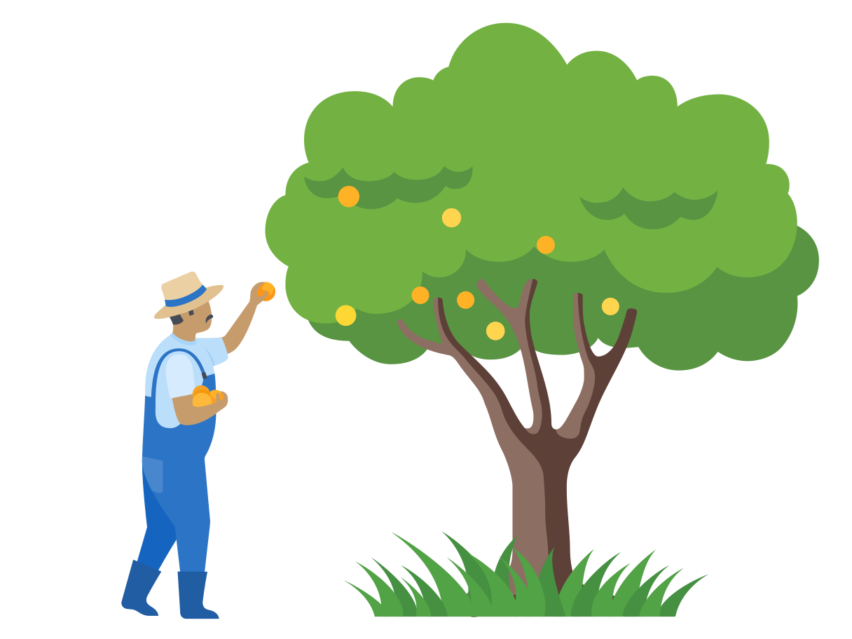 Picking the fruits Clipart illustration in PNG, SVG