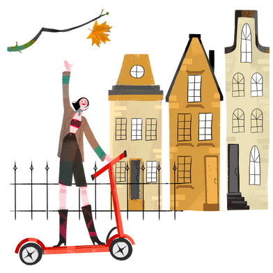style Autumn street images in PNG and SVG | Icons8 Illustrations