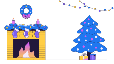 style Christmas Home images in PNG and SVG | Icons8 Illustrations