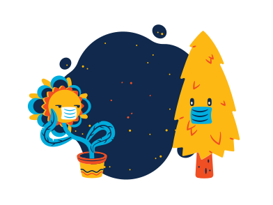 style Plants during pandemic images in PNG and SVG | Icons8 Illustrations