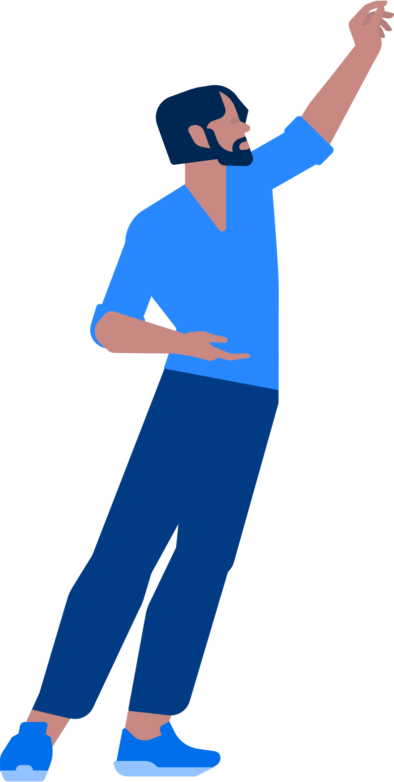 man holding somth Clipart illustration in PNG, SVG