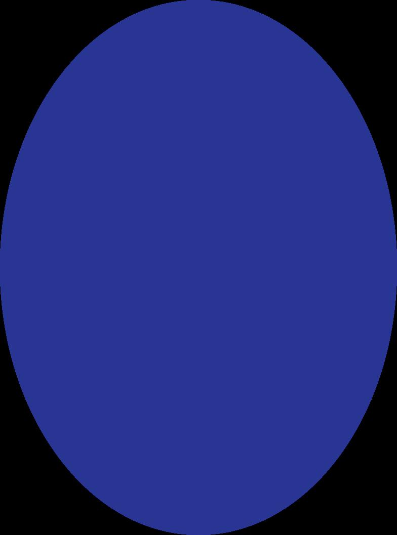 ellipse dark blue Clipart illustration in PNG, SVG