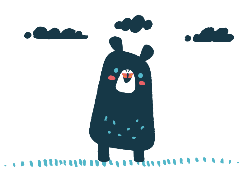 style Butterfly sits on the nose of a bear Vector images in PNG and SVG | Icons8 Illustrations