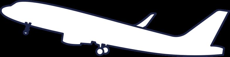 plane 2 line Clipart illustration in PNG, SVG