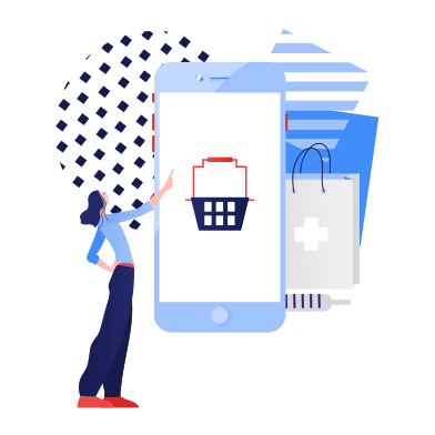 style Online pharmacy shopping  images in PNG and SVG | Icons8 Illustrations