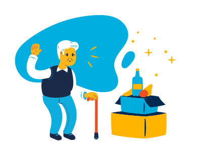 style Grocery delivery for seniors images in PNG and SVG | Icons8 Illustrations