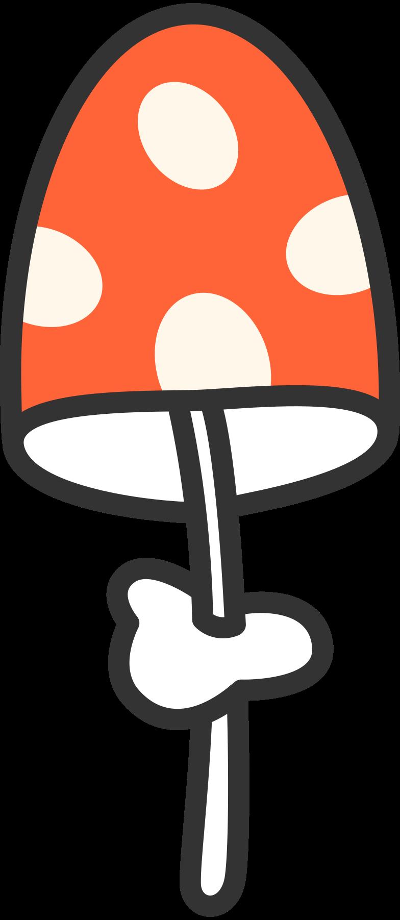 Fungo magico di halloween Illustrazione clipart in PNG, SVG