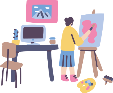style Artist workspace images in PNG and SVG | Icons8 Illustrations