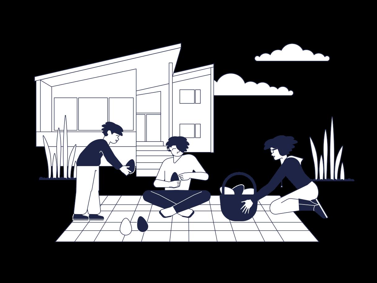 Ostereier dekoration Clipart-Grafik als PNG, SVG